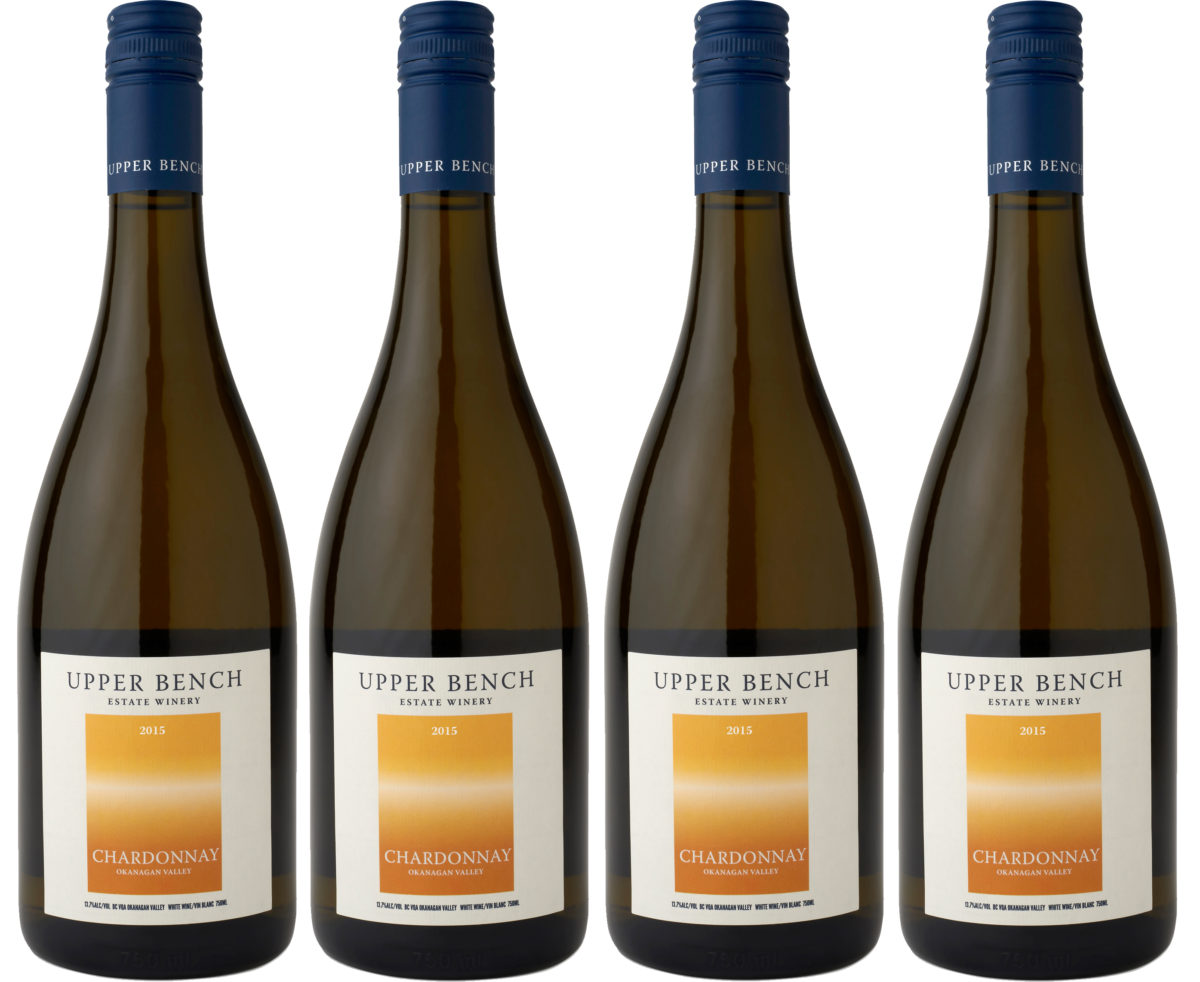 UpperBench_Chardonnay_2015_4Bottleshot