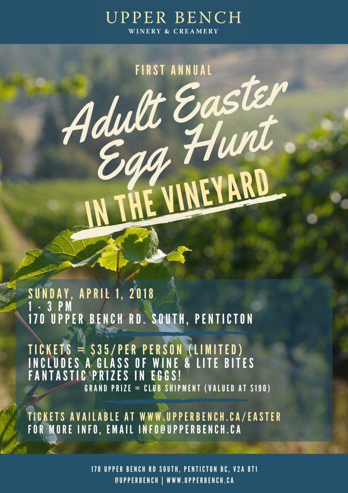 Adult Easter Egg Hunt Upper Bench Estate Winery